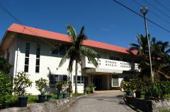 西表研究施設の玄関口 昭和51年設置 788㎡ 事務所や応接室、外部研究者が使用できる実験室などを備えています。